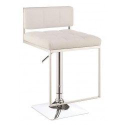 Adjustable Bar Stool 100193 White