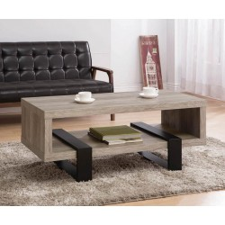 COFFEE TABLE 720878 GREY DRIFTWOOD/BLACK