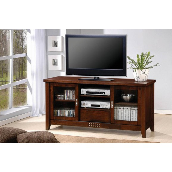 TV STAND 700619 WARM BROWN
