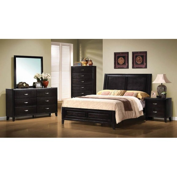 QUEEN BED 201961Q DARK BROWN