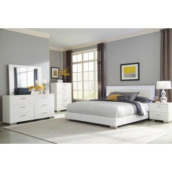 QUEEN BED 203500Q GLOSSY WHITE