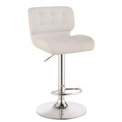 Adjustable Bar Stool 100546 White