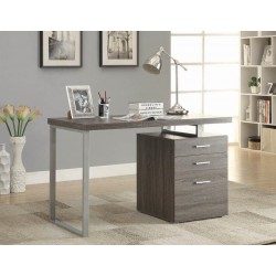 Computer Desk 800520 WEATHERED GREY/SILVER