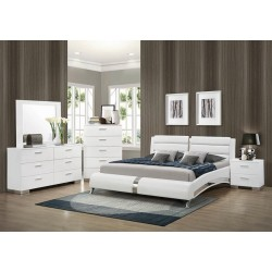 QUEEN BED 300345Q WHITE