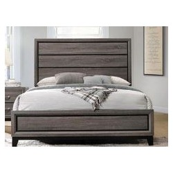 QUEEN BED 212421Q GREY OAK/BLACK