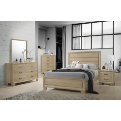 QUEEN BED 206351Q WHITE WASHED OAK