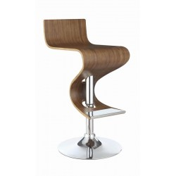 ADJUSTABLE BAR STOOL 100396 WALNUT